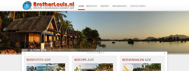 Preview nieuw design reiswebsite Brotherlouis.nl 3.0