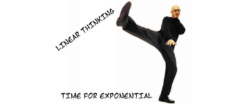 Van lineair naar exponentieel denken